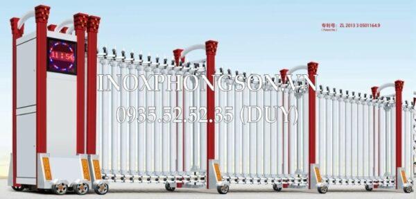 Cổng Xếp Inox Nhập Khẩu PS-1705