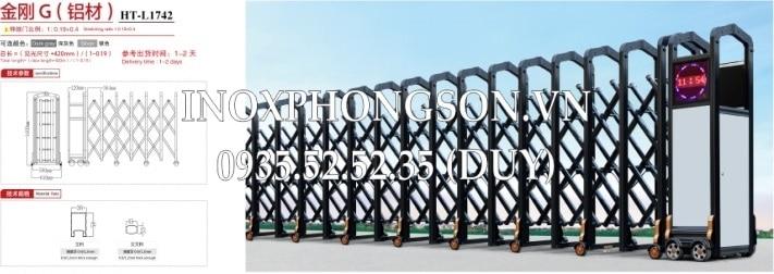 Cửa Cổng Xếp Nhôm PS-1743