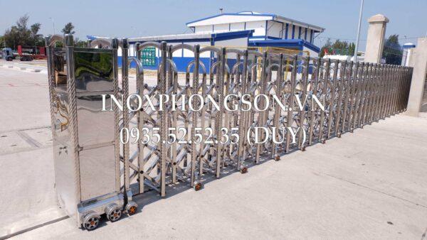 Cổng Xếp Inox Tự Động PS-15