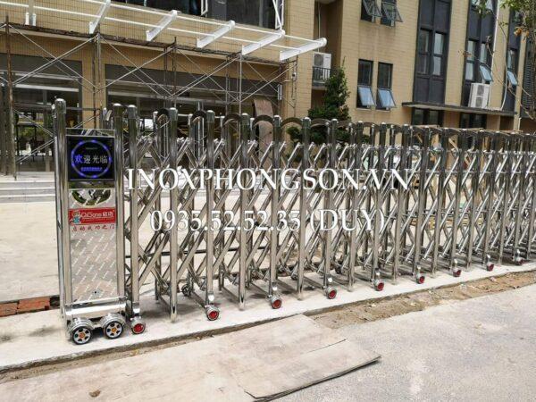 Cổng Xếp Inox PS-05