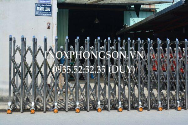 Cổng Xếp Inox PS-09