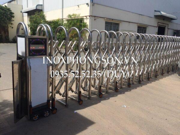 Cửa Cổng Xếp Inox PS-02