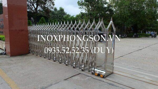 Cổng xếp Inox tự động – Cổng xếp Ino ...