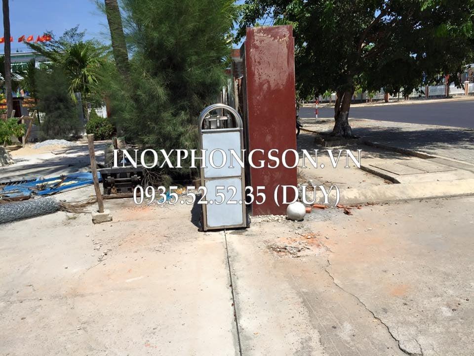Cửa Cổng Xếp cho Agribank chi nhánh Núi Thành, Quảng Nam