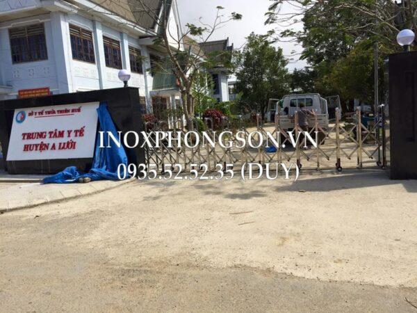 Thi công, Lắp đặt Cửa Cổng Xếp Inox ở Hu� ...