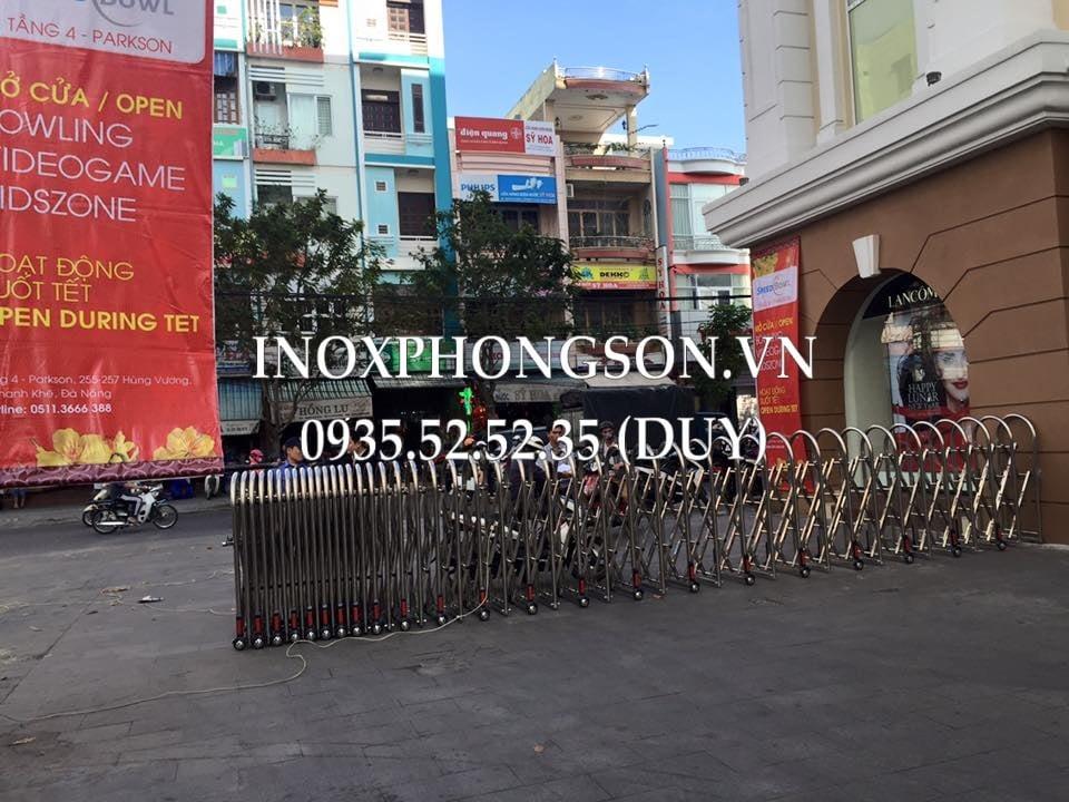 Cổng Xếp ra vào cho Siêu Thị Dragon Plaza - đường Ông Ích Khiêm, Đà Nẵng