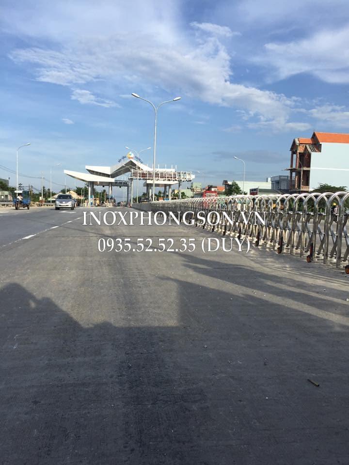Cửa Cổng Xếp Inox cho Trạm Thu Phí Tam Kỳ - Quảng Nam