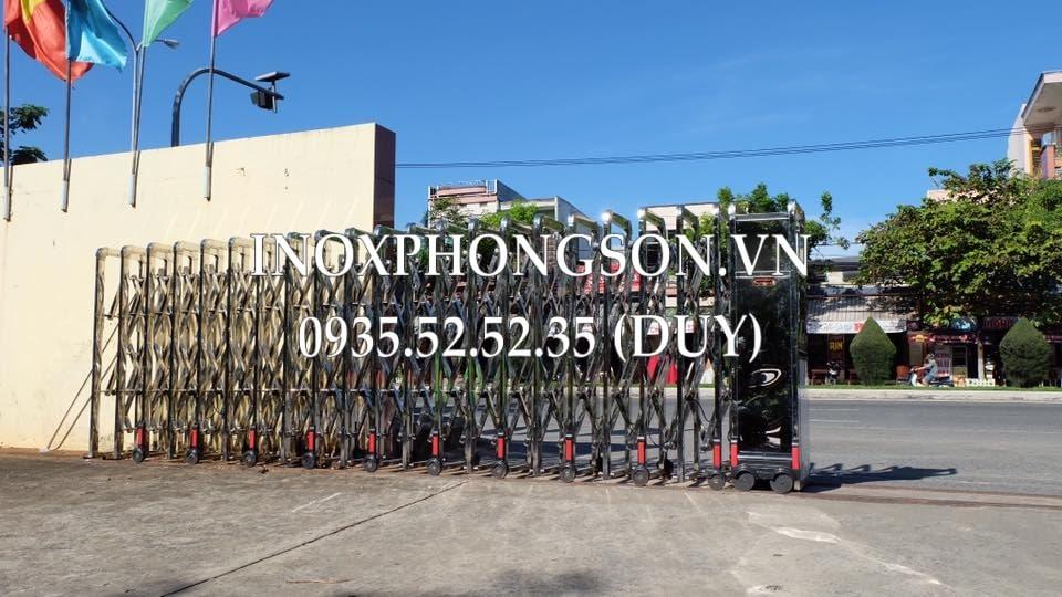 Cửa Cổng Xếp Tự động ở trường Đại học Sư Phạm Đà Nẵng