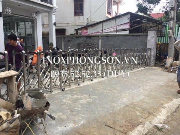 Thi công, Làm Cửa Cổng Xếp Inox tại Quảng N ...