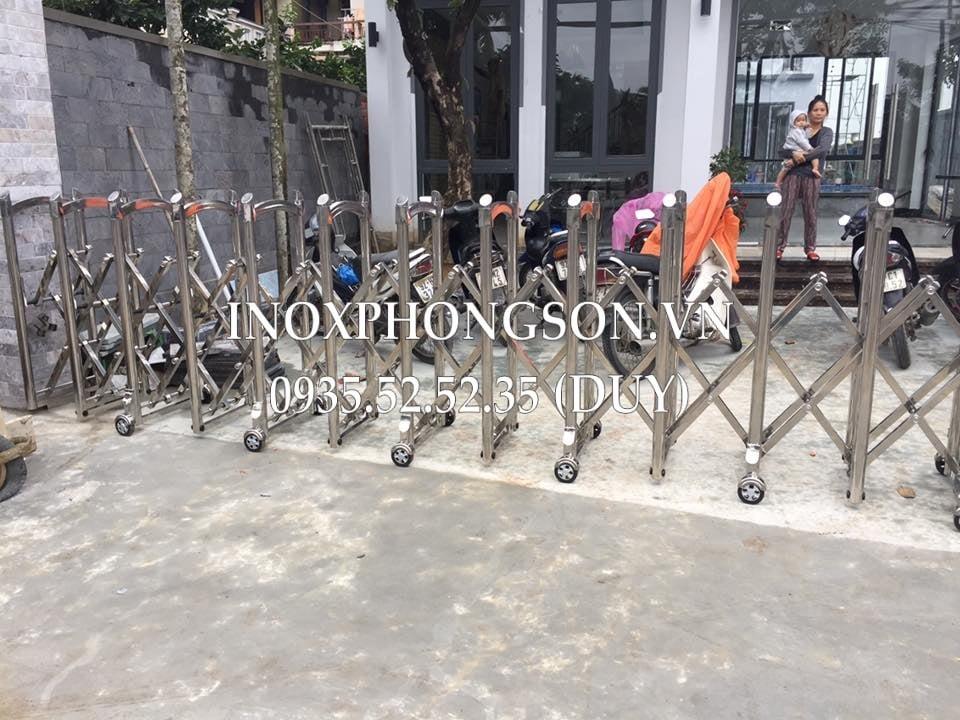 Cửa Cổng Xếp Tự Động cho nhà của 1 khách VIP ở Quảng Nam
